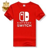 뜨거운 새로운 게임 콘솔 로고 스위치 로고 인쇄 t 셔츠 좋은 선물 게임 팬 남친이 셔츠 스위치 T 셔츠 ac374