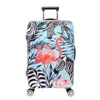 ODBIC 3D Flamingo Elastic Luggage Protective Covers For 18 32 Inch Suitcase Thick Dust Pink Cover