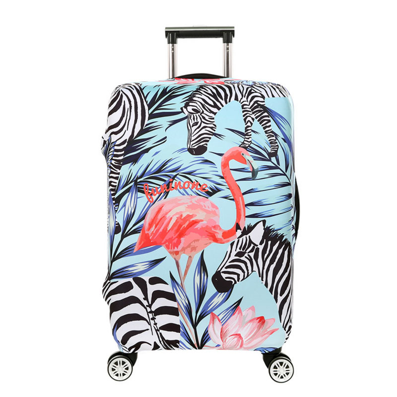 ODBIC 3D Flamingo Elastic Luggage Protective Covers for 18-32 Inch Suitcase Thick Dust Pink Cover Travel Bag Case Cove цена