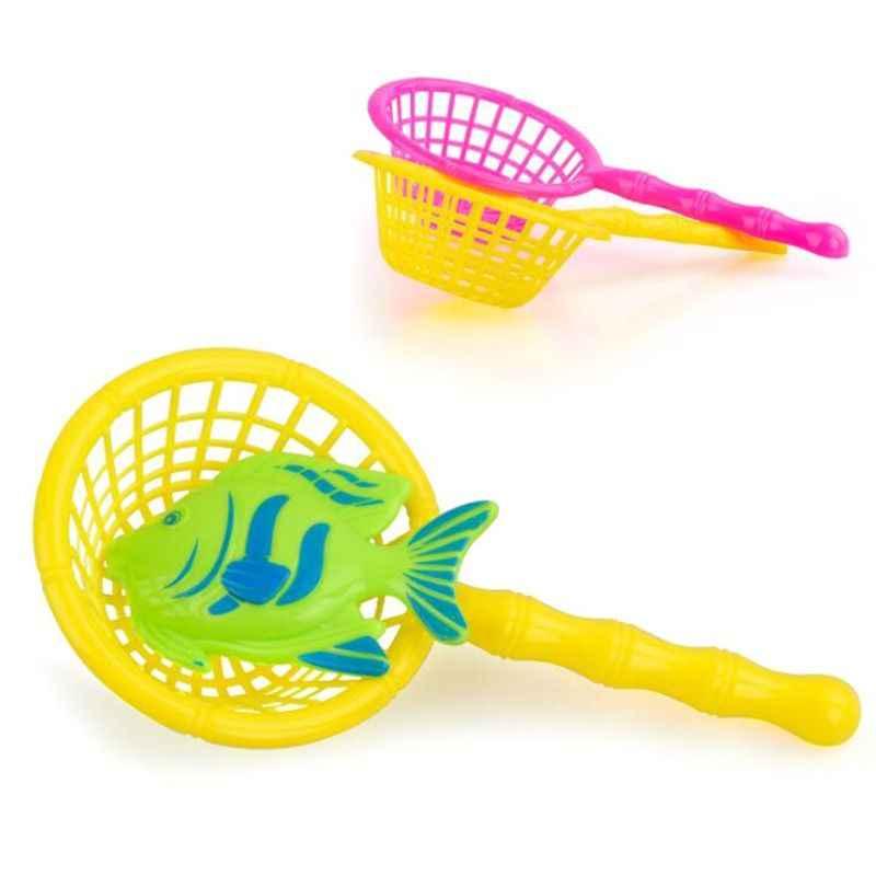 16,5 cm red de pesca de baño de plástico para niños con asa accesorios regalo al aire libre Color al azar