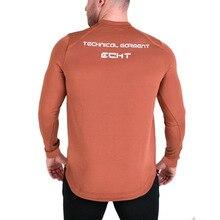 Muscular giants Men s Fitness gym muscle running training exercise long  sleeved c140d7c46