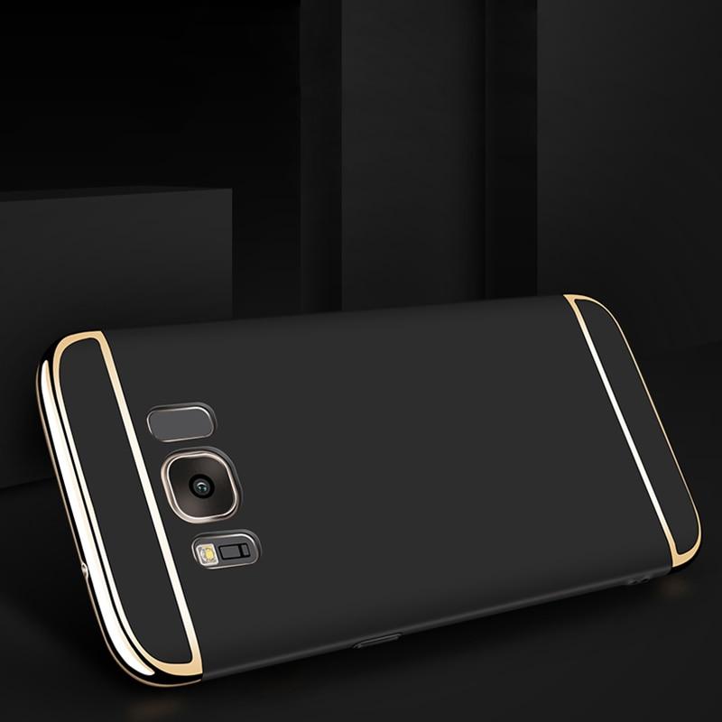 Samsung Galaxy S8 Plus Hard Shell Coque Üçün 1 Qızıl örtüklü - Cib telefonu aksesuarları və hissələri - Fotoqrafiya 2