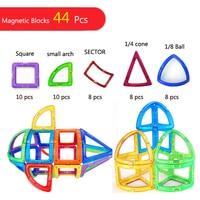 UNIQUE #63002 44PCS Magnet Toys Building Blocks Magnetic Construction Set Designer Kids DIY Educational Toys Games For Children