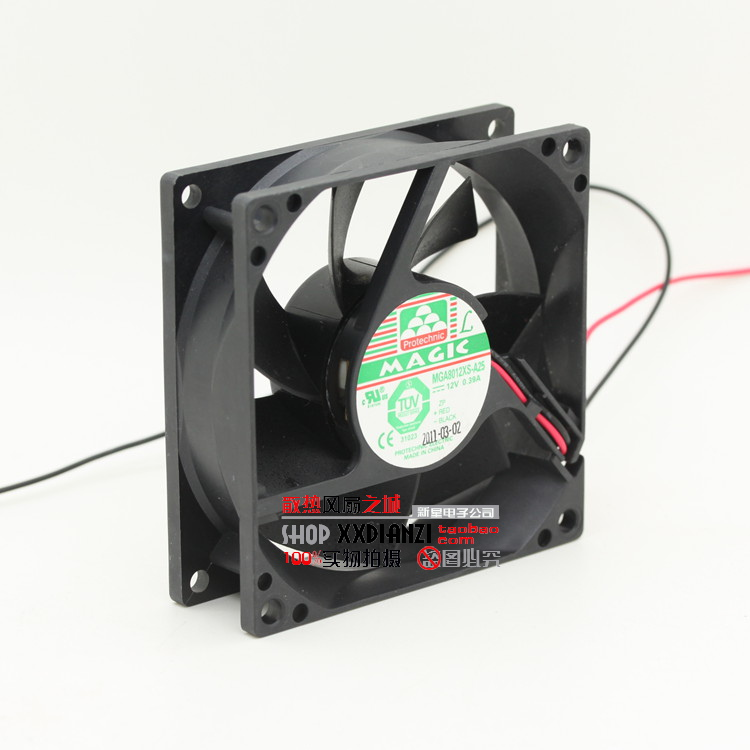 New MGA8012XS A25 8025 12V 0.39A 8CM Computer Cabinet Cooling Fan(China (