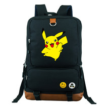 3c41ddc0190b Pokemon Go Kids School Book Children Backpacks Girl Bag Teenages Cartoon  Nylon Shoulder Bag Boy Travel