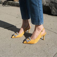 Women Pumps Fashion Ladies Rhinestone High Heels Shoes Soft