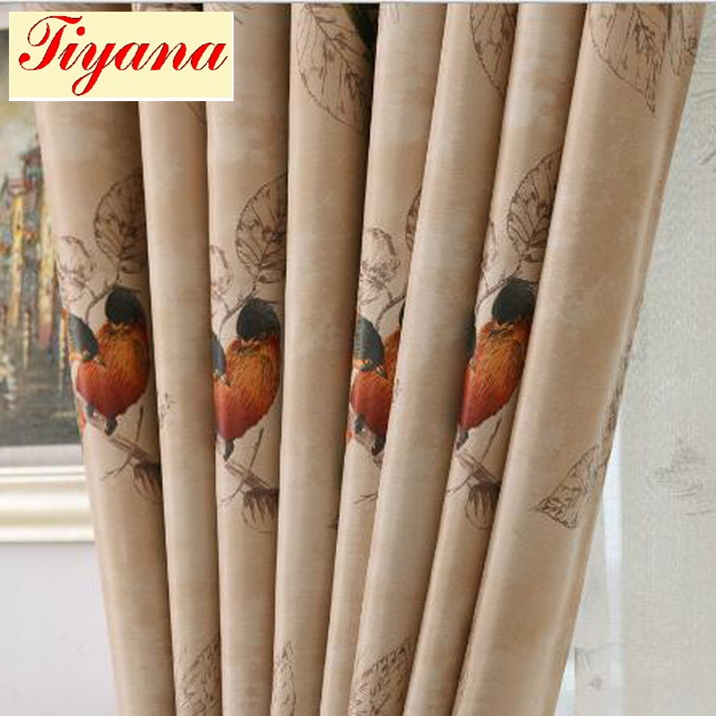 Colorful Bird Blackout Curtains Tulle Curtains for Living Room Children Kids' Bedroom Hot Sale Free Shipping 2017 New WP335 *15