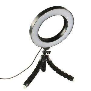 Image 5 - Đèn LED Selfie Vòng Ánh Sáng Mờ Với Giá Đỡ Đầu Mini Linh Hoạt Bọt Biển Bạch Tuộc Chân Đế Tripod Trang Điểm Video Sống Phòng Thu Photograp