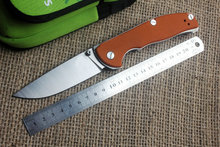 TRSKT 95 ball bearings folding knife D2 blade G10 handle outdoor Survival camping hunting pocket knife EDC tool Dropshipping