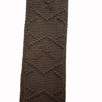 high quality jacquard coffee polyester tubular webbing 3 cm wide 30mm width 1.6mm thickness hallow polyester tape liman ribbon