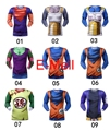 New sports Dragon Ball Tight T-shirt men running gym bodybuilding compressed Son Goku Vegeta long sleeve t shirt tights