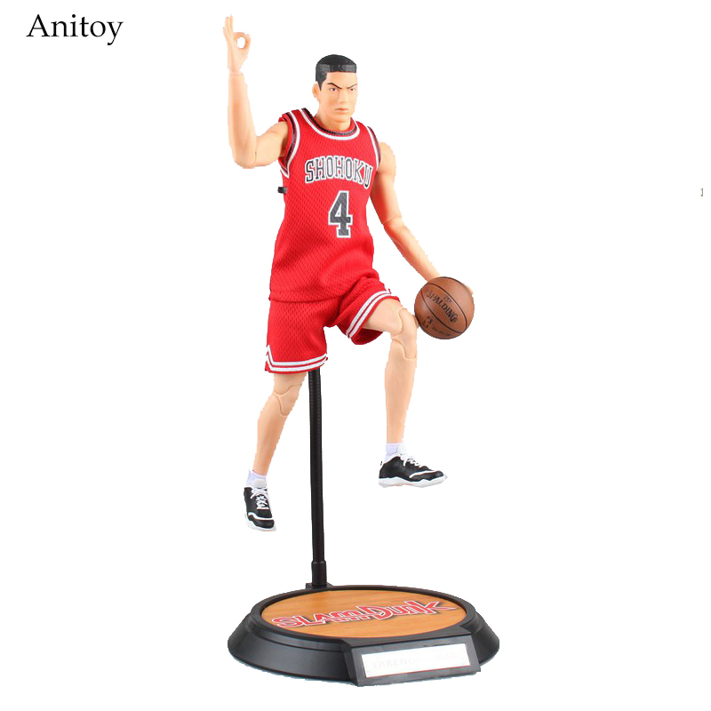 SLAM DUNK #4 Akagi Takenori Variant Action Figure 1/6 scale painted figure Shohoku PVC Figure Collectible Model Toy 34cm KT3987 anime slam dunk akagi takenori action figure pvc classic collection toy model garage kit doll