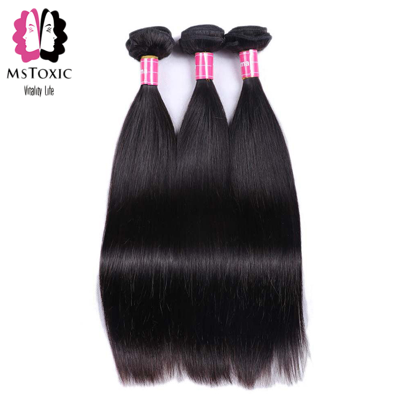 Mstoxic Peruvian Straight font b Hair b font 3 Bundles 100 Human font b Hair b