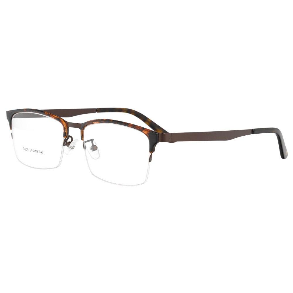 SPITOIKO Acetátové brýle s kovovými optickými rámy brýlové brýle brýlové brýle D809