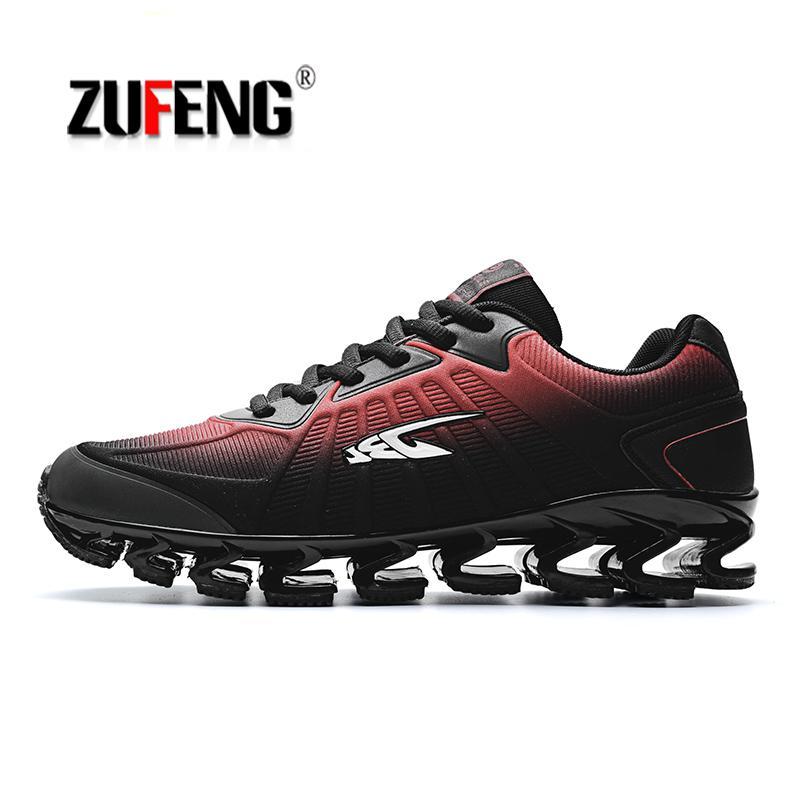 ZUFENG Lame Chaussures de Course Hommes sneakers Rhythm Mis À Jour Doux Déodorant Semelle Pour Athletic Jogging En Plein Air chaussures noir rouge