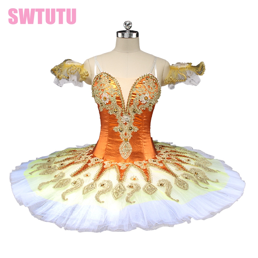 new princess florina orange peformance ballet tutu women blue bird pancake ballet tutu professional ballet stage costume BT9134A