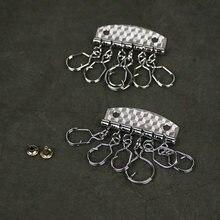 Кольцо для ключей с кожаным ремеслом 6 колец 10 шт/лот
