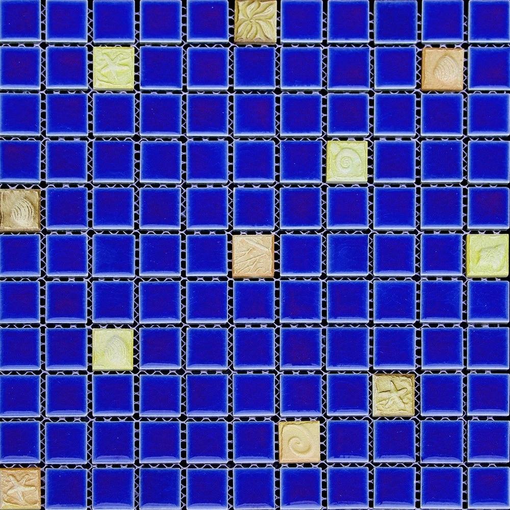 Blue ceramic eastern mediterranean yellow embossing porcelain blue ceramic eastern mediterranean yellow embossing porcelain mosaic for bathroom mosaic kitchen backsplash wall floor tiles in wall stickers from home doublecrazyfo Gallery
