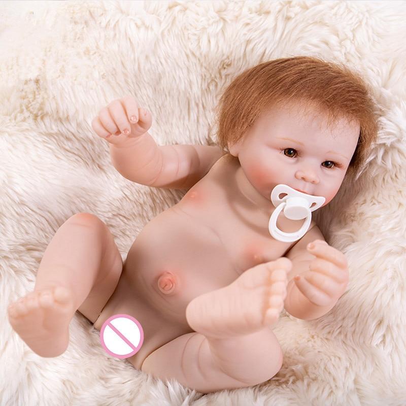 50 cm BeBe Reborn realistyczne chłopiec dziecko noworodka realistyczne silikonowe Reborn lalki dla dzieci zabawki do wczesnej edukacji dzieci Reborn Baby lalki symulacji w Lalki od Zabawki i hobby na  Grupa 3