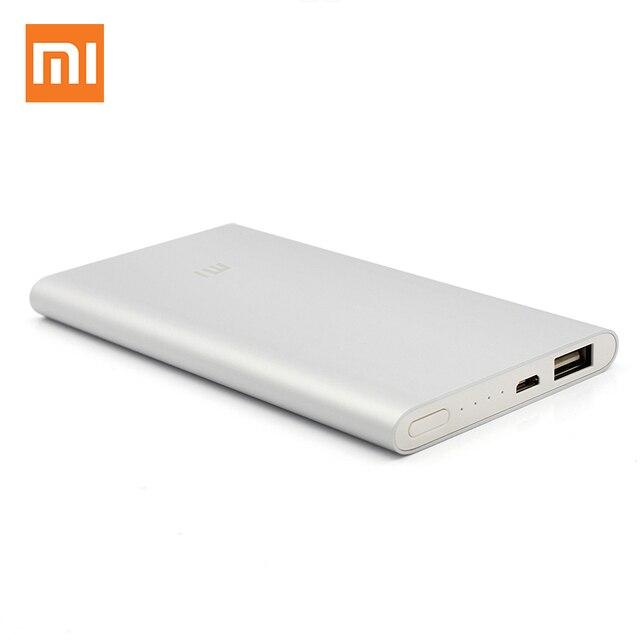 Оригинальный Xiaomi Мобильные аккумуляторы 5000 мАч Портативный Зарядное устройство Мобильные аккумуляторы внешний Батарея Bank 5000 для iPhone 6 Xiaomi Телефоны свет