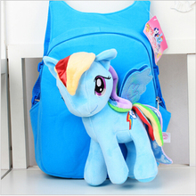 3D Cartoon Pony Backpack For Girls Kids School Bag Child Plush Backpacks Baby Schoolbag Cartoon Kids Satchel Mochila Infantil