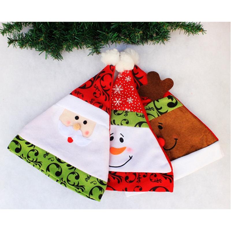 Children Christmas Hats Cute Santa Claus Snowman Elk Decoration Hat Pretty Kids Boys Girls New Year Gifts Holiday Party Props cute santa claus pattern christmas decoration hat