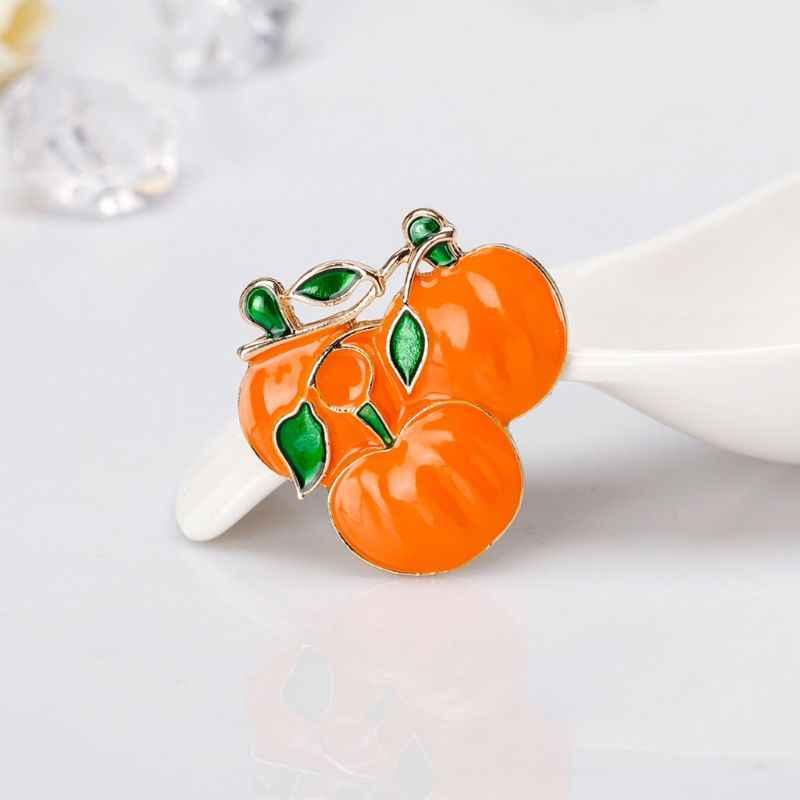 1 PC Halloween Bros Labu Oranye Tahun Baru Perhiasan Lencana Perjamuan Pin Enamel Chrismas Hadiah Perhiasan Aksesoris W77