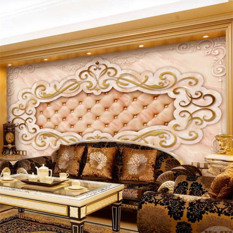 Beibehang papel де parede пользовательские обои 3d Фото Фреска европейской роскоши гостиная камень ТВ диван фон 3d обои