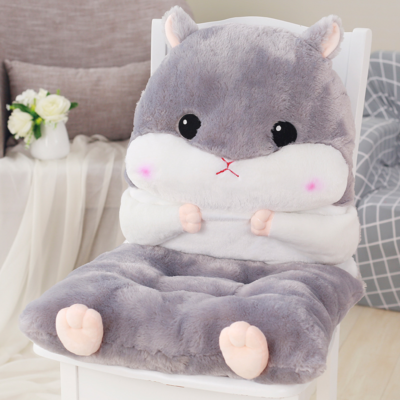 Newest Plush Lovely Cartoon Design Seat Cushion Lumbar Back Support Cushion Pillow for Office Home Car