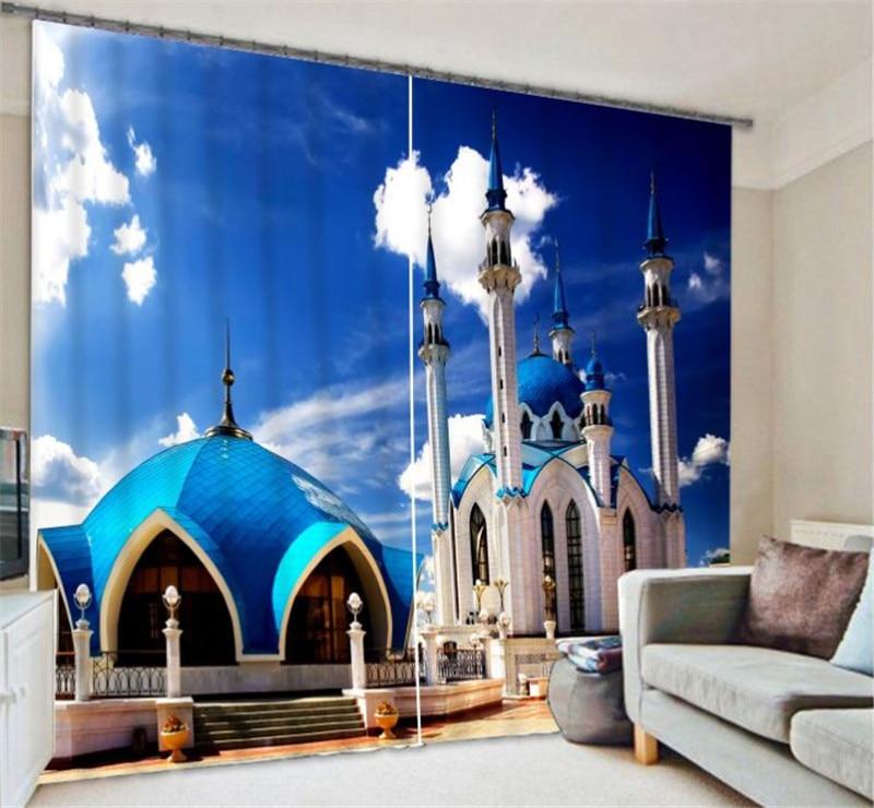 European Castle Luxury 3D Blackout Curtains Drapes For