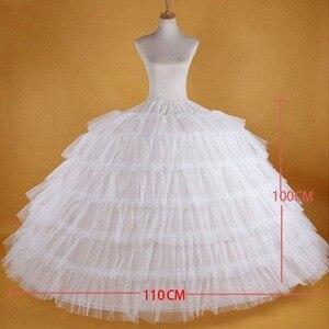 Image 2 - Saias de noiva, venda quente de 6 ganchos, grande, branco, super macio, crinolina, deslizante, para vestido de noiva