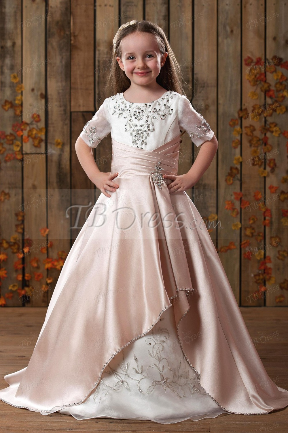 Buy sparkly bling custom made toddler for Little flower girl wedding dresses