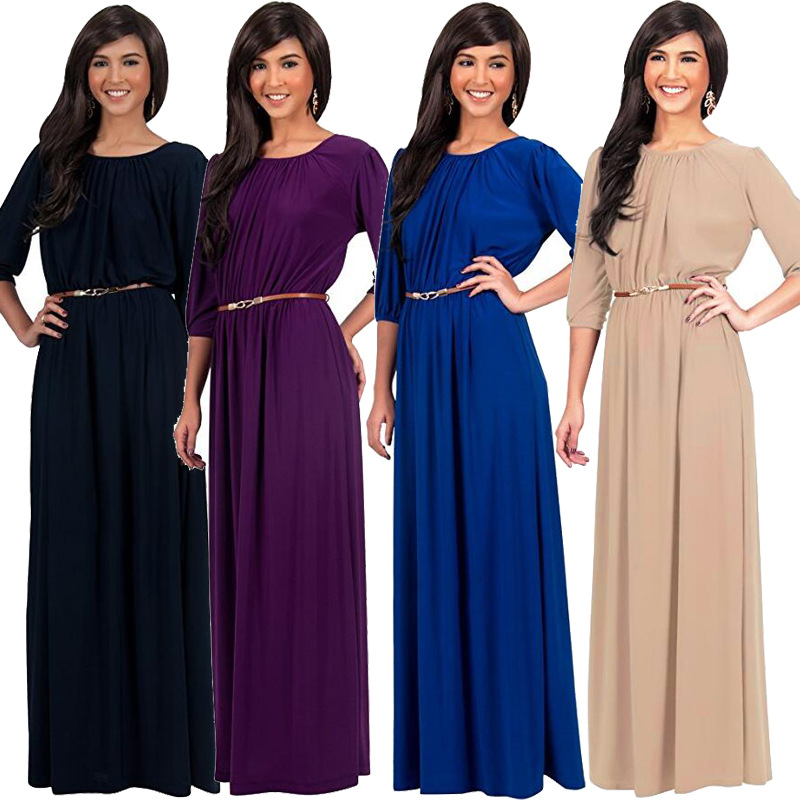 2017 new womens clothing fashionable plus-size dress sleeve + belt in the dress Pregnant women fashion dress L267