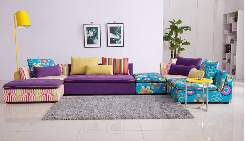 U-BEST Lounge furniture Fabric sofa combination L type corner sofa  morden fabric l shape sofa corner sofa colorful sofa factory wholesale best quality livingroom furniture 922