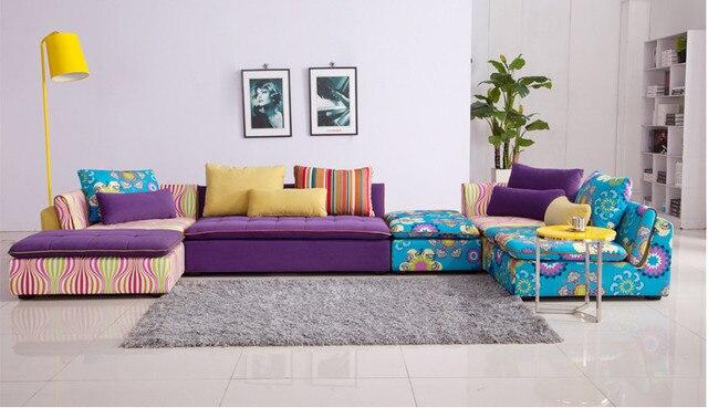 U-BEST Lounge furniture Fabric sofa combination L type corner sofa