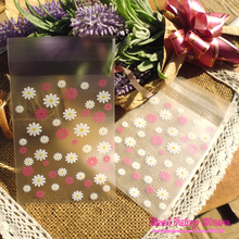300pcs Classic Flower Lace Baking Gift Food Plastic Bags Cute Small Biscuit Bag Party Favor Cellophane Bags(Hong Kong)
