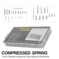Spring Assortment Set, 200 Pieces Zinc Plated Compression and Extension Springs for Repairs Ferramentas Herramientas Outillage