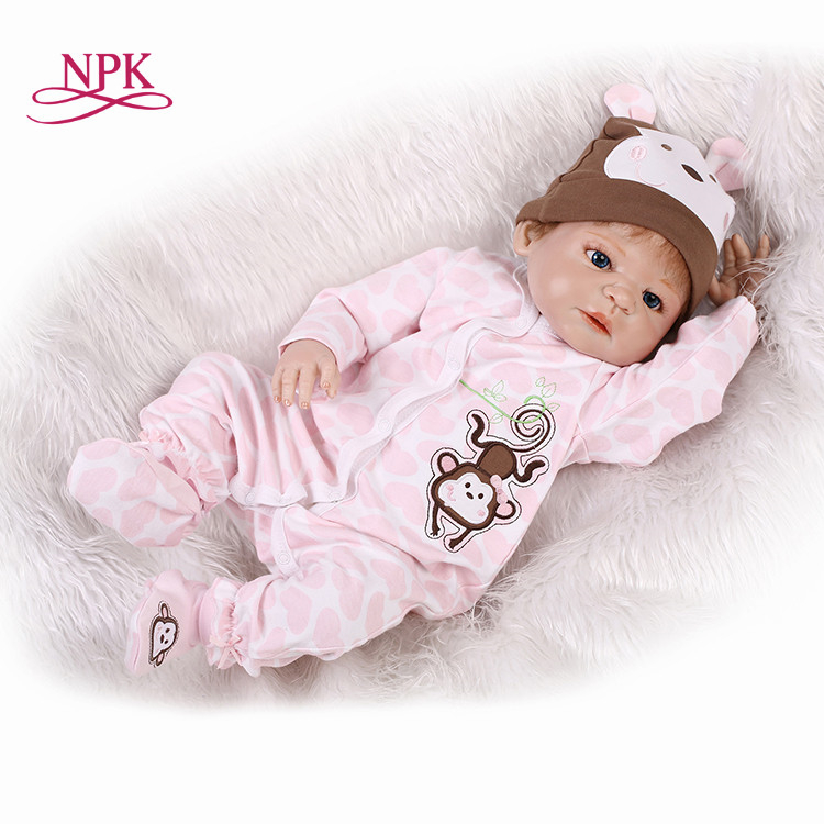 NPK 23 Inch Reborn Baby boy Doll Full Silicone Vinyl Bebe Reborn Realistic Princess Baby Toy Doll For Children's Day Gifts цена