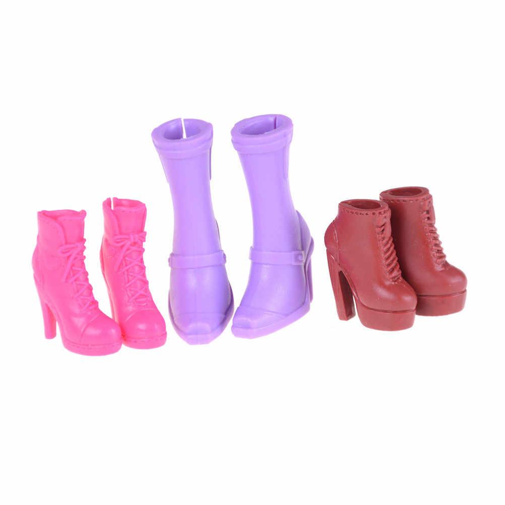 1 çift Elegance yüksek topuklu çizmeler sandalet parti yemeği günlük giyim renkli karışık ayakkabı oyuncak bebek giysileri aksesuarları hediye