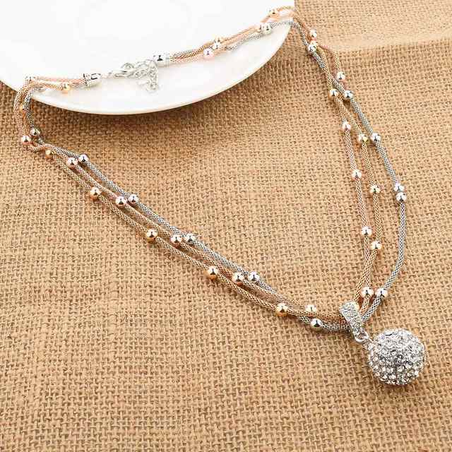 Online shop szelam crystal ball necklaces pendants hot sale lovely szelam crystal ball necklaces pendants hot sale lovely fashion gold necklace long chain necklace for women sne140451 mozeypictures Gallery