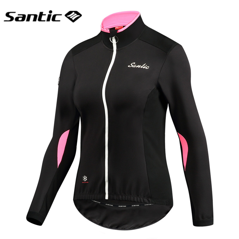 Santic Winter Cycling Jersey Long Sleeve MTB Jersey Women Fleece Thermal Downhill Motocross Jersey Sports Mountain Bike Clothing wosawe 2017 winter men women thermal cycling base layer compression mountain bike warmer underwear long sleeve cycling jersey page 1