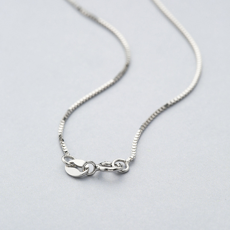 Sterling Silver Necklace BOX Chain Solid 925 Italy 1.5mm New Wholesale Prices