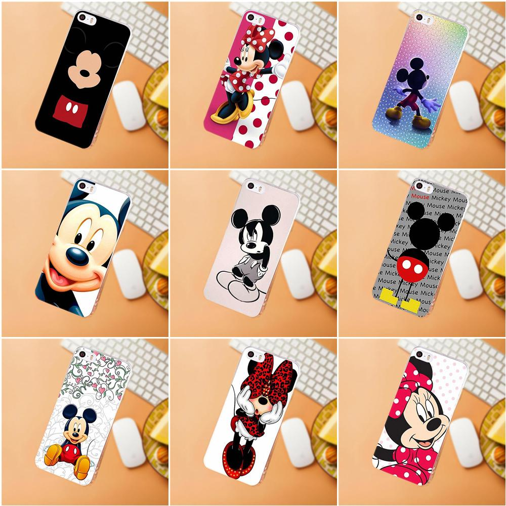 Maerknon TPU Fall Für <font><b>Samsung</b></font> Galaxy A3 A5 A7 J1 J2 <font><b>J3</b></font> J5 J7 2015 <font><b>2016</b></font> 2017 Cartoon <font><b>Mickey</b></font> Minnie Mouse Luxury Hybrid image