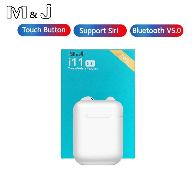 Controle de toque i11 tws mini 5.0 bluetooth fone ouvido sem fio fones portátil invisível para xiaomi iphone telefone inteligente