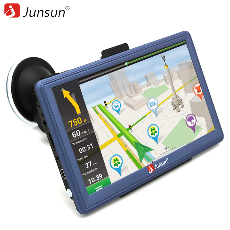 junsun 7 inch car gps navigation android bluetooth wifi truck vehicle gps auto navigators sat. Black Bedroom Furniture Sets. Home Design Ideas