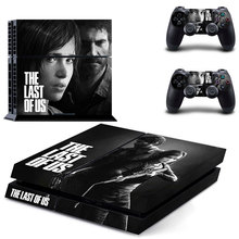 Последняя из виниловых наклеек из кожи США для Sony PS4 PlayStation 4 и 2 контроллеров, обложки для PS4 консоли, наклейки для кожи