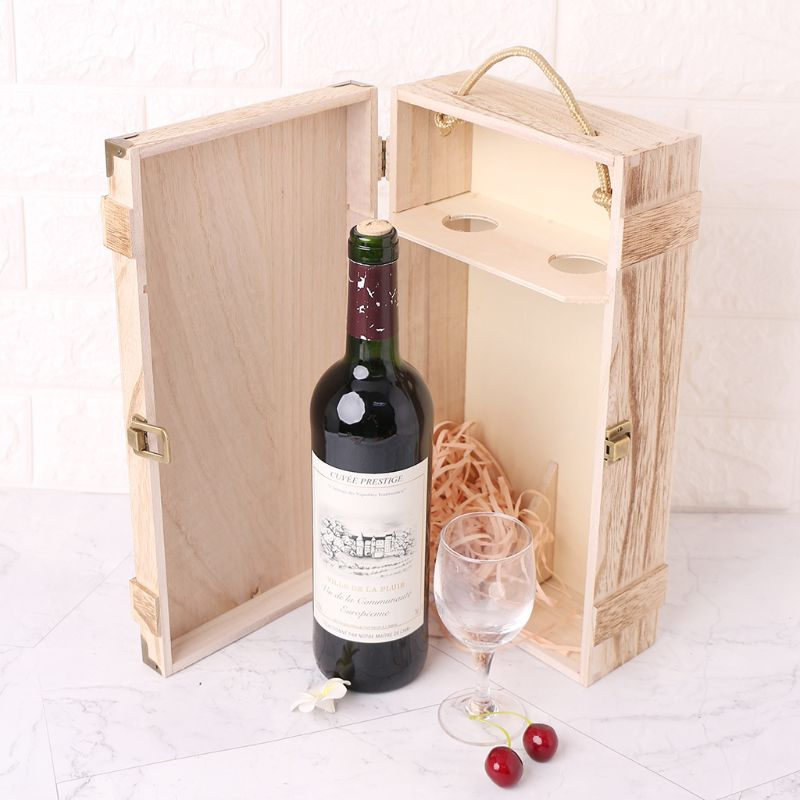 Wine Bottle Box Vintage Style Bag Red Wine Champagne Tote Carrier Nice Gift Case