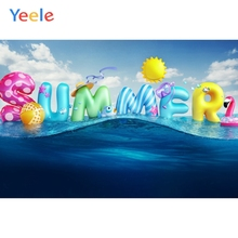 Yeele Sky Sun Clouds Sea Summer Colorful Balloons Photography Backgrounds Customized Photographic Backdrops for Photo Studio