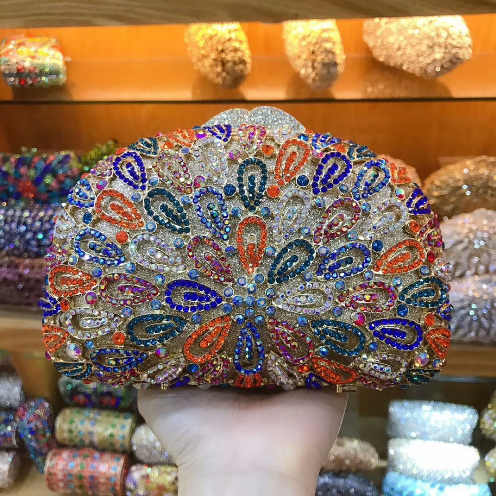 Banquet Same Xiyuan Soirée Pictur As Lady color De Diamant Color Strass Luxe Marque Pictur Multicolore Mariage Sac Pochette Femmes Parti Fête OwOa8