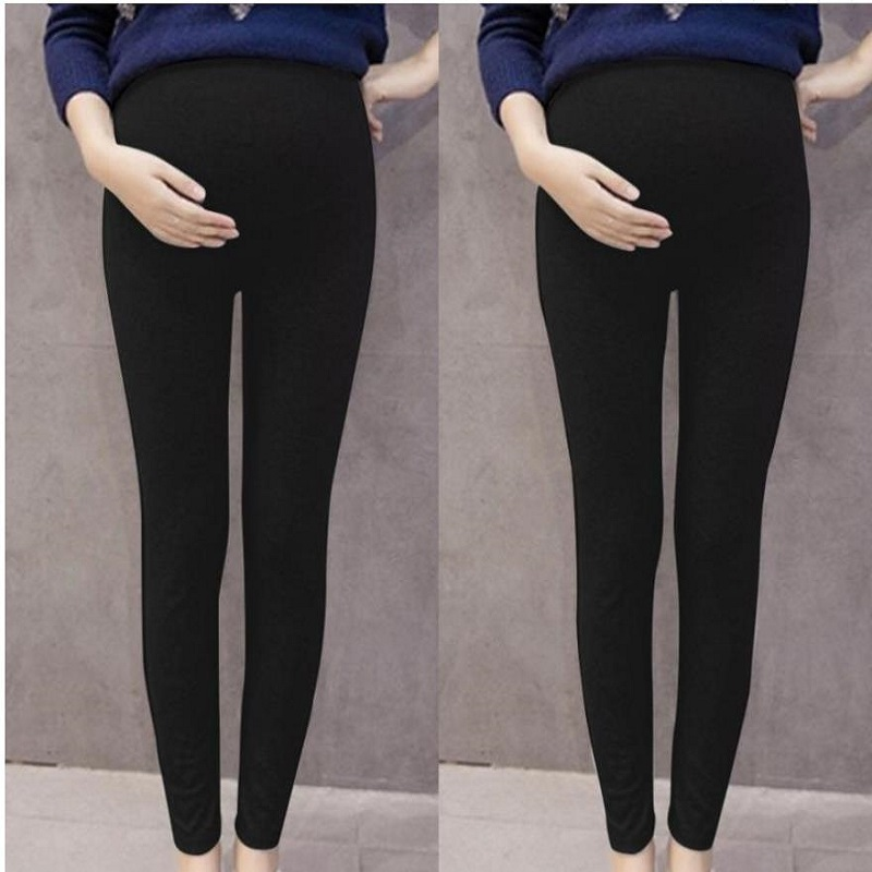 883656 Black Pencil Pants For Pregnant Casual Fashion Maternity Pants All Match Thin Pregnancy Leggings Autumn Women Trousers
